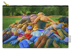 Carry-all Pouch featuring the photograph Heap Of Scarecrows by Nikolyn McDonald