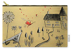 Heart Cottage Red 2 Carry-all Pouch