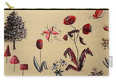 Heart Cottage Red 3 Carry-all Pouch