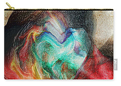 Carry-all Pouch featuring the digital art Heart Deep by Linda Sannuti