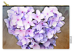 Heart Hydrangea Carry-all Pouch