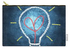 Heart In Light Bulb Carry-all Pouch by Setsiri Silapasuwanchai