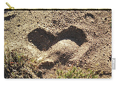 Heart In The Sand Carry-all Pouch