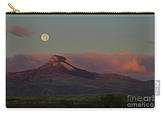 Heart Mountain And Full Moon-signed-#0273  #0273 Carry-all Pouch