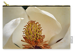 Carry-all Pouch featuring the photograph Heart Of Magnolia by Larry Bishop