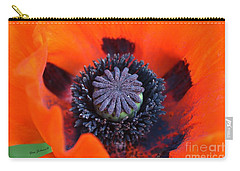 Heart Of The Poppy  Carry-all Pouch