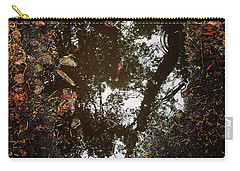 Carry-all Pouch featuring the photograph Heart Of The Wood by Rasma Bertz