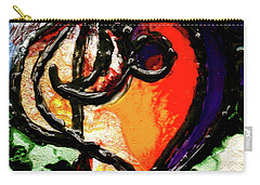 Carry-all Pouch featuring the painting Heart Robin Treble by Genevieve Esson