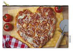 Heart Shaped Pizza Carry-all Pouch by Garry Gay