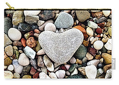 Heart-shaped Stone Carry-all Pouch