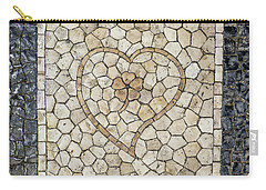 Heart Shaped Traditional Portuguese Pavement Carry-all Pouch