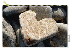 Carry-all Pouch featuring the photograph Heart Stone by Lainie Wrightson