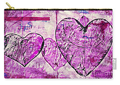 Hearts Abstract Carry-all Pouch