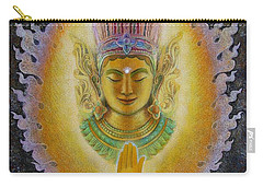 Carry-all Pouch featuring the painting Heart's Fire Buddha by Sue Halstenberg