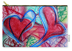 Hearts In The Garden Carry-all Pouch