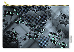 Hearts N' Vines Green Carry-all Pouch