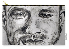 Heath Ledger Charcoal Sketch Carry-all Pouch by Dushyant Kumar