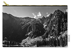 Heather Lake Black And White Carry-all Pouch