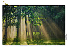 Carry-all Pouch featuring the photograph Heavenly Light Sunrise by Christina Rollo