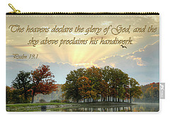 Carry-all Pouch featuring the photograph Heavenly Morning by Ann Bridges
