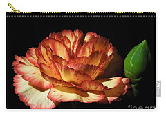 Heavenly Outlined Carnation Flower Carry-all Pouch