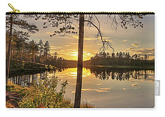 Carry-all Pouch featuring the photograph Heavenly Sunset by Rose-Marie Karlsen