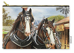 Heavy Horses Carry-all Pouch