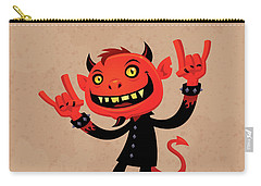Heavy Metal Devil Carry-all Pouch by John Schwegel