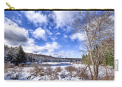 Carry-all Pouch featuring the photograph Heavy Snow At The Green Bridge by David Patterson