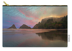 Heceta Head Lighthouse Foggy Sunset Carry-all Pouch