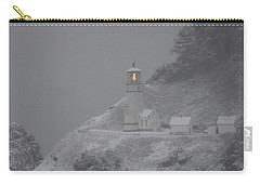 Heceta Lighthouse Snowstorm Carry-all Pouch