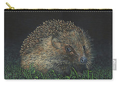 Carry-all Pouch featuring the painting Hedgehog by John Neeve