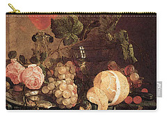 Heem Jan Davidsz De Still Life With Flowers And Fruit Carry-all Pouch