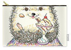 Hedgehog Heaven Carry-all Pouch by Denise Fulmer