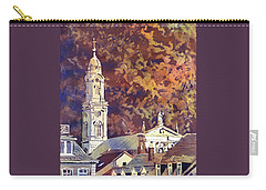 Carry-all Pouch featuring the painting Heidelberg Evening by Ryan Fox