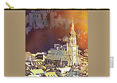 Carry-all Pouch featuring the painting Heidelberg Sunset- Germany by Ryan Fox