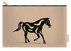 Heinrich - Pop Art Horse - Black, Primrose Yellow, Hazelnut Carry-all Pouch