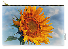 Helianthus Annuus Greeting The Sun Carry-all Pouch