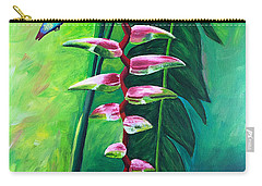 Heliconia Flower And Friend Carry-all Pouch