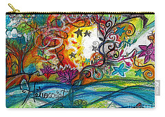 Carry-all Pouch featuring the painting Helios And Ophelia Posterized by Genevieve Esson