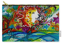 Carry-all Pouch featuring the painting Helios And Ophelia  by Genevieve Esson