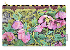 Hellebores Carry-all Pouch by Nancy Jolley