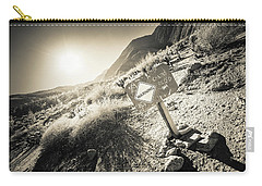Carry-all Pouch featuring the photograph Hellhole Canyon Warning by T Brian Jones