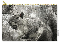 Carry-all Pouch featuring the photograph Pesky Squirrel by Fine Art By Andrew David