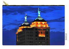 Hello Goodbye In Stormy Skies Atop The Liberty Building Carry-all Pouch by Michael Frank Jr