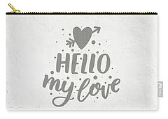 Carry-all Pouch featuring the photograph Hello My Love Card by Edward Fielding