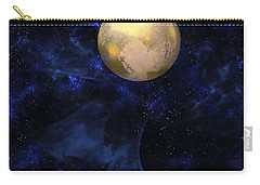 Carry-all Pouch featuring the digital art Hello Pluto by Klara Acel