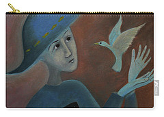 Carry-all Pouch featuring the painting Hello To You by Tone Aanderaa