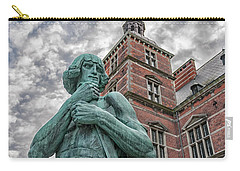 Carry-all Pouch featuring the photograph Helsingor Train Station Statue by Antony McAulay