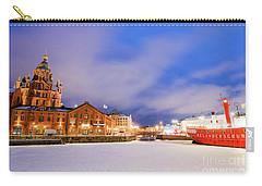 Carry-all Pouch featuring the photograph Helsinki By Night by Delphimages Photo Creations